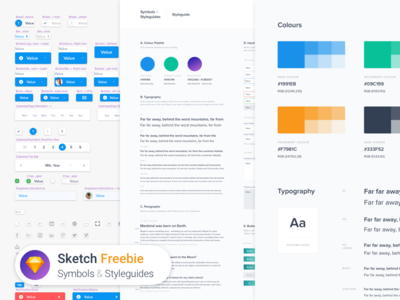 Nested Symbols & Styleguides (Freebie) dashboard administration nested template guidelines guide branding styleguide symbols freebie free