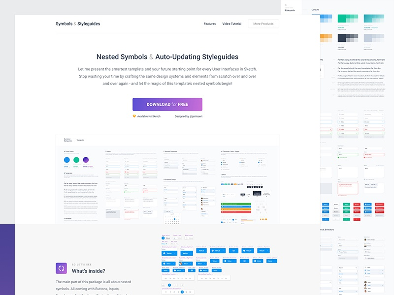Top 20+ UI Design System Templates For Sketch | Weshare