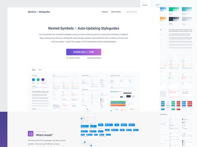 Symbols Styleguides Landing Page Freebie By Jan Losert Dribbble