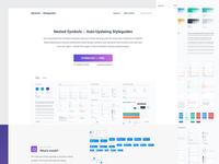 Symbols & Styleguides - Landing Page (FREEBIE)