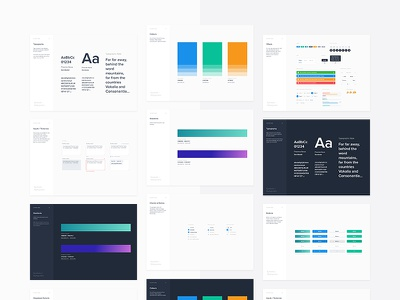 Branding Cards / from Symbols &Styleguides (Freebie) dashboard administration nested template guidelines guide branding styleguide symbols freebie free
