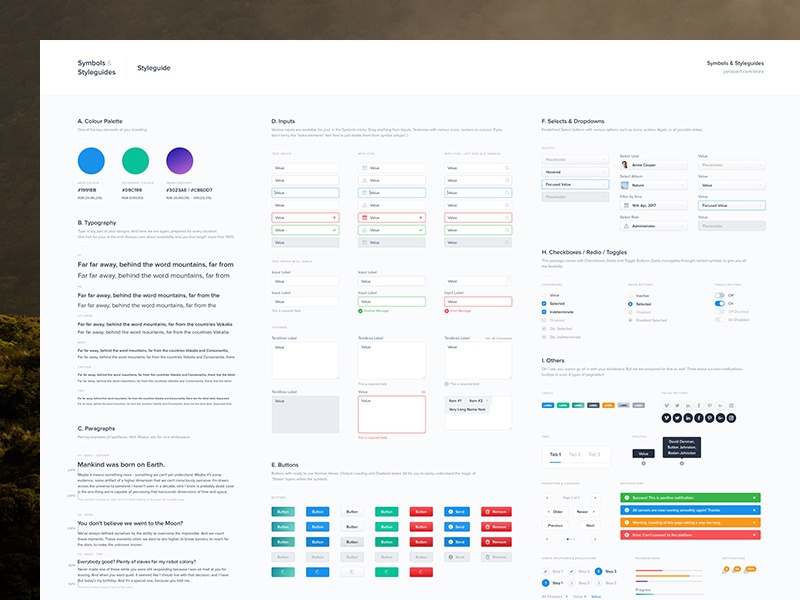 Map Layout Styleguide dashboard administration nested template guidelines guide branding styleguide symbols freebie free