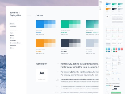 Styleguide 2 - Symbols & Styleguides (Freebie) free freebie symbols styleguide branding guide guidelines template nested administration dashboard