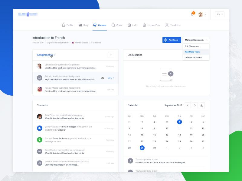 Dashboard - Overview ui calendar overview application menu event dropdown profile empty dashboard ui kit