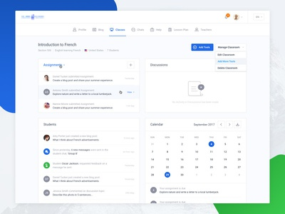 Dashboard - Overview ui calendar overview application menu event dropdown profile empty dashboard ui kit