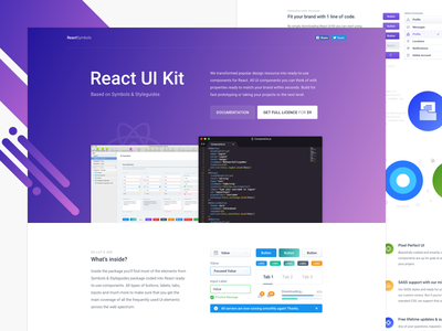 ReactSymbols UI Kit - Released! dashboard administration nested template reactjs guide branding styleguide symbols code react