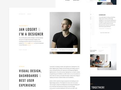 JanLosert.com Redesigned & Live! webdesign minimal skillshare designer contact cv ui dashboard 404 webflow portfolio