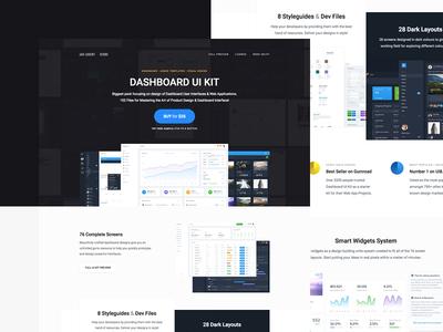 Dashboard UI Kit - Landing Page
