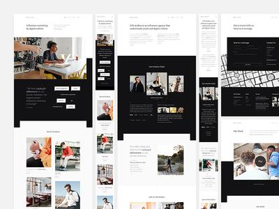 Filli Studios - Full Website typography clean marketing website portfolio agency dark black minimal landing