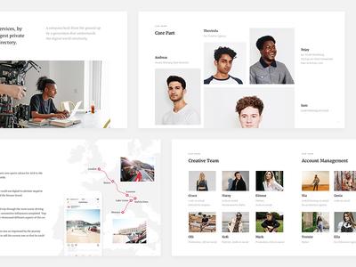 Filli Deck (Part 3) powerpoint keynote minimal summary web deck portrait profile map clean product presentation