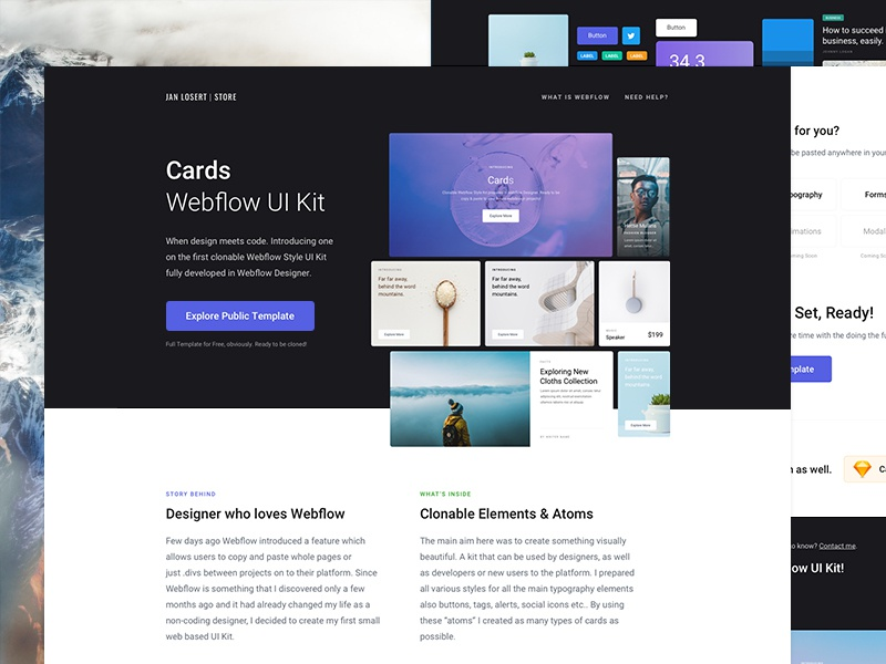 Cards - Webflow UI Kit | Search by Muzli