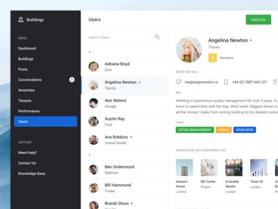 Buildings - Users (Dashboard UI Kit 3.0)