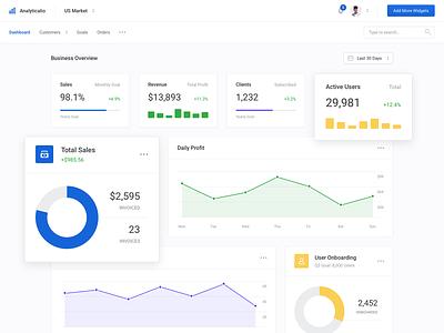Analytics (Dashboard UI Kit 3.0) analytics dashboard analytics chart analytics chart pie chart design ui kit clean stats performance web ui graph profile dashboard