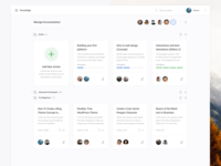 Manage Documentation (Dashboard UI Kit 3.0)