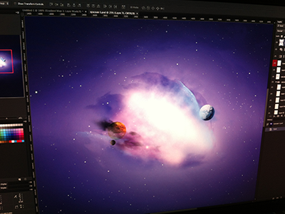 Galaxy G57 - Preview galaxy g57 preview space planets blue nebula stars space art art freebie comet deep pack planet star wallpaper color paint speed jan losert