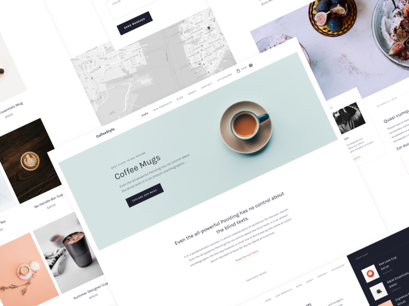 CoffeeStyle - All Screens (Webflow Ready) product cart eshop ecommerce coffee website ui design webflow landing