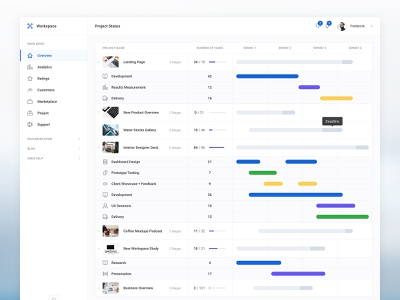 Project Status summary ui kit performance clean stats graph freebie design table navigation menu progress bar kit ui dashboard