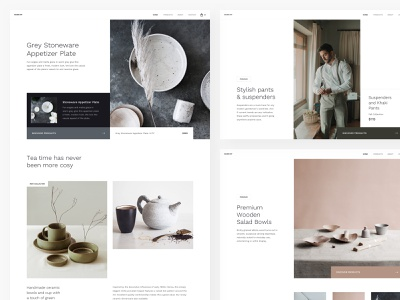 Ecommerce + Grid 2.0 UI Kit (Initial WIP Part 2) website webflow ui ecommerce web design clean webdesign web