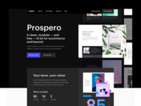 (Bēhance) Prospero — Webflow Ecommerce UI kit wireframe ecommerce landing page webflow ux ui kit design behance ui