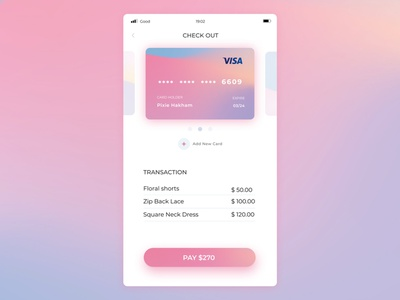Credit Card Checkout - Daily UI002 app ui ux