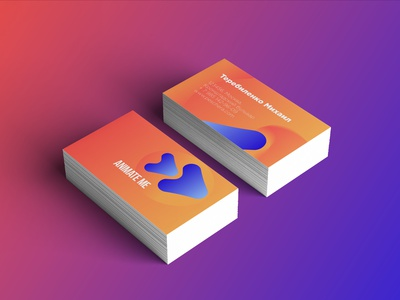 animate me style 2 business card style graphicdesign typography motion design vector logo design illustration