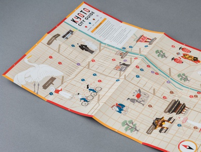 Kyoto Guide Map by Curated Kyoto x Miz