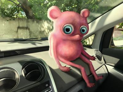 Car waiting creature character design digital art photoshop digital illustration procreate