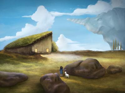 Expectation painting environment character design illustration digital art procreate