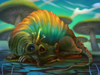 Dragon dragon character design illustration digital painting procreate