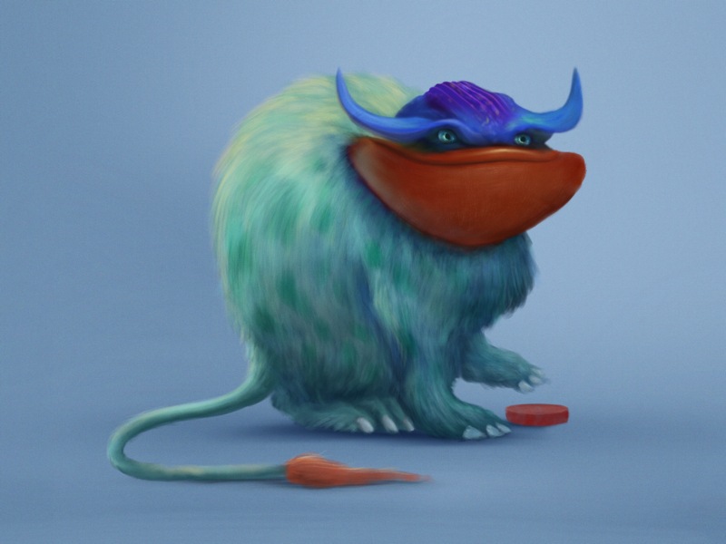 Push the button. Your future starts today painting monsters creatures character design illustration digital art procreate