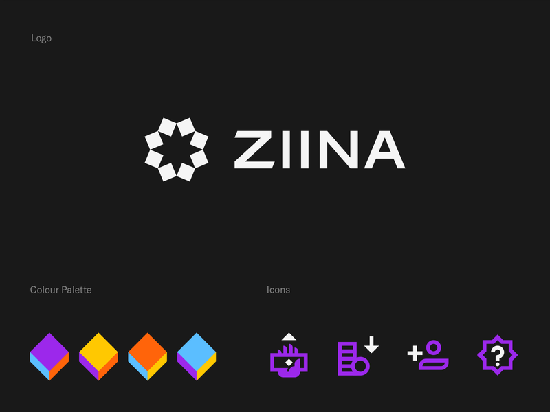 Ziina - Branding character design illustration app identity icon colors typography brand design payment app mark logotype logo branding