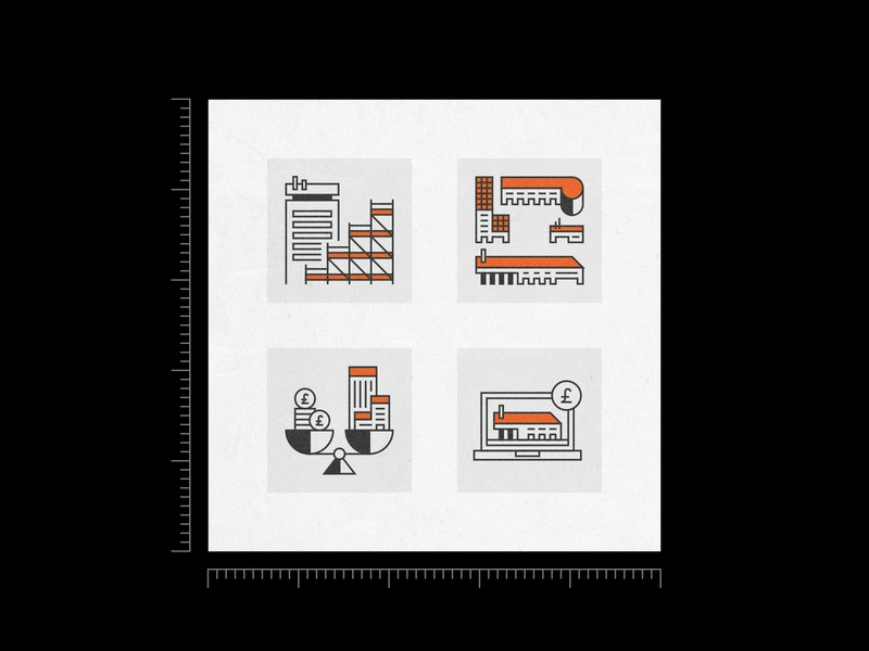 Buildings S004 icons vector isometric buildings illustration