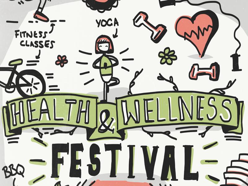 Health & Wellness Festival illustration