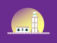 Illustration of Vung Tau Lighthouse
