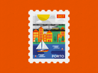 Porto Post Stamp Illustration