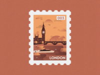 London Post Stamp Illustration