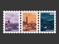 Post Stamp Illustrations