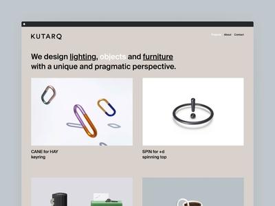 KUTARQ Web Design - Desktop