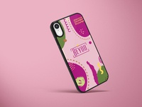 Beyou - Phone cover - Berry mockup product design branddesign brand identity branding illustration design