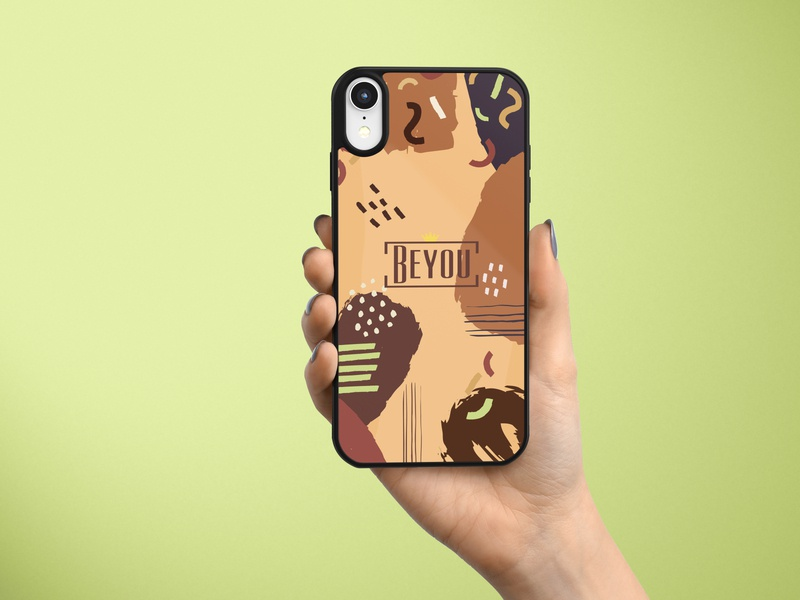 Beyou - Phone cover - Mocha mockup vector logo product design branddesign brand identity branding illustration design