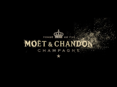 Moët interactive particles particle kinect champagne cluster cloud logo particles interactive