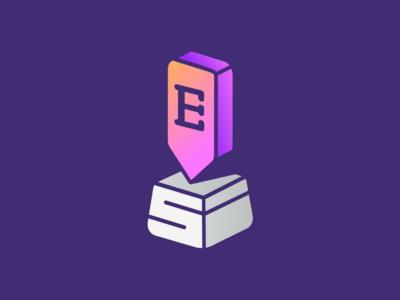 Etbaly - إطبع لي typing letter logo design mark