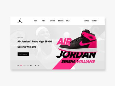Air Jordan website design