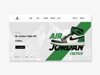 Air Jordan website animation
