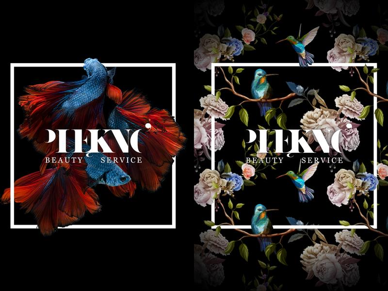 Piękno - Beauty Service typography design logo