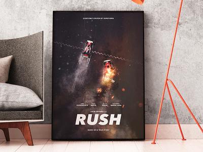 RUSH - Alternative Movie Poster race james hunt niki lauda formula f1 cars racing alternative poster movie rush