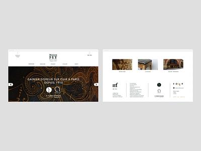 Maison Fey - Redesign webdesign design branding identity logo