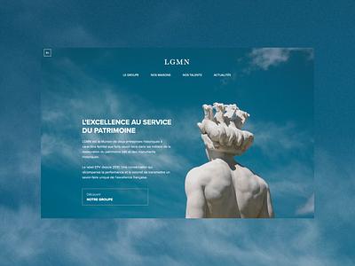 LGMN - Website website web webdesign design