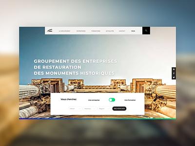 Homepage - GMH : Company or Apprenticeship web heritage illustration website ux  ui identity logo webdesign design