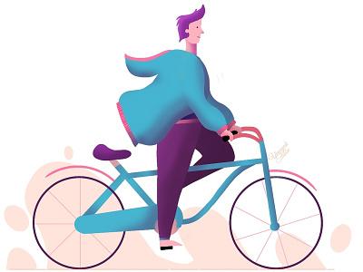 Winter Cycling digital illustration digitalart artworks illustration art illustration